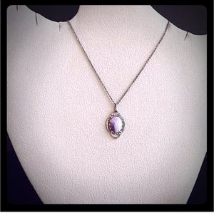 VINTAGE Wampum Shell Rhodium Plated Necklace